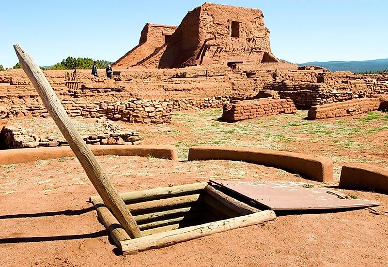 Pecos Pueblo Mission lies beside the Glorieta Pass Battlefield. The pass, along the Santa Fe Trail, was extremely important strategically in the Southwest Theater.