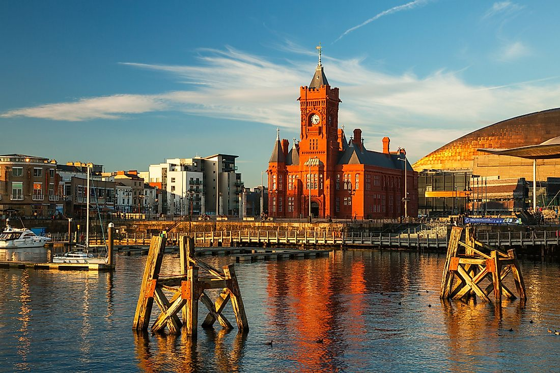 Cardiff, the largest city in Wales.