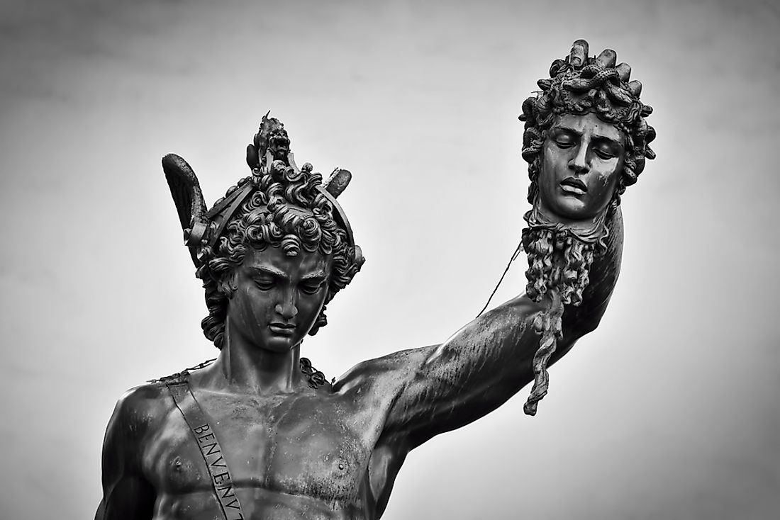 """Perseus with the Head of Medusa"", a famous Mannerist statue in Florence."