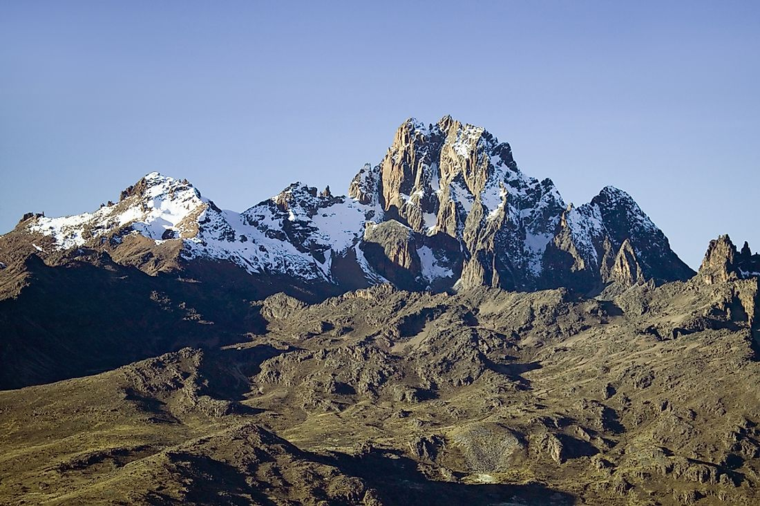 The name of Kenya comes from Mount Kenya.