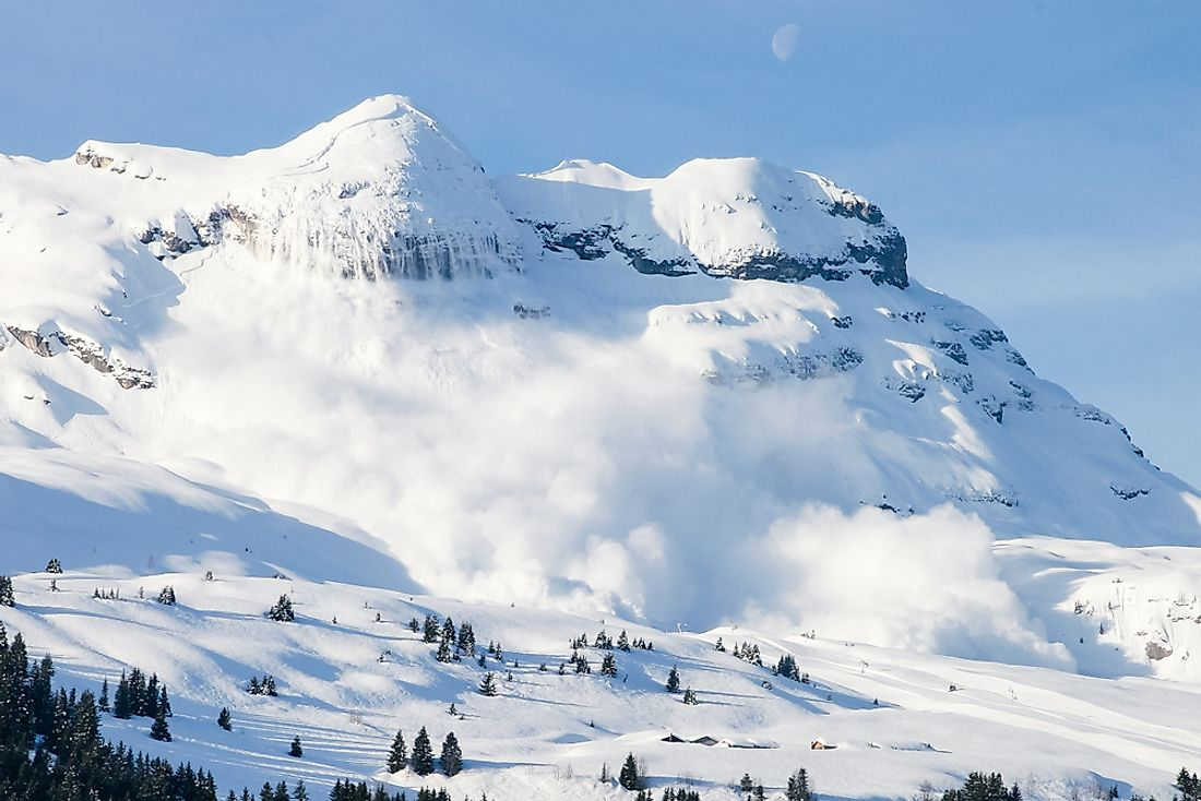 Avalanche in the French Alps.