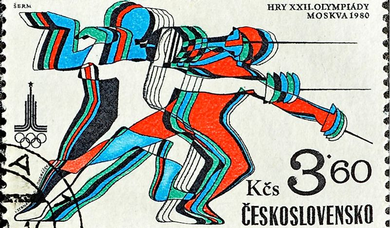 A stamp from the former Czechoslovakia. Editorial credit: EhayDy / Shutterstock.com.