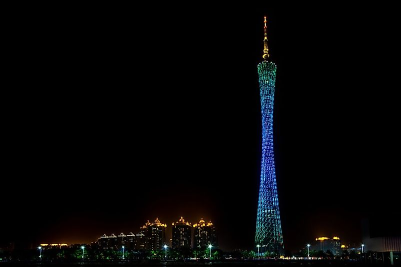 #2 Canton Tower, China - 1,969 Feet