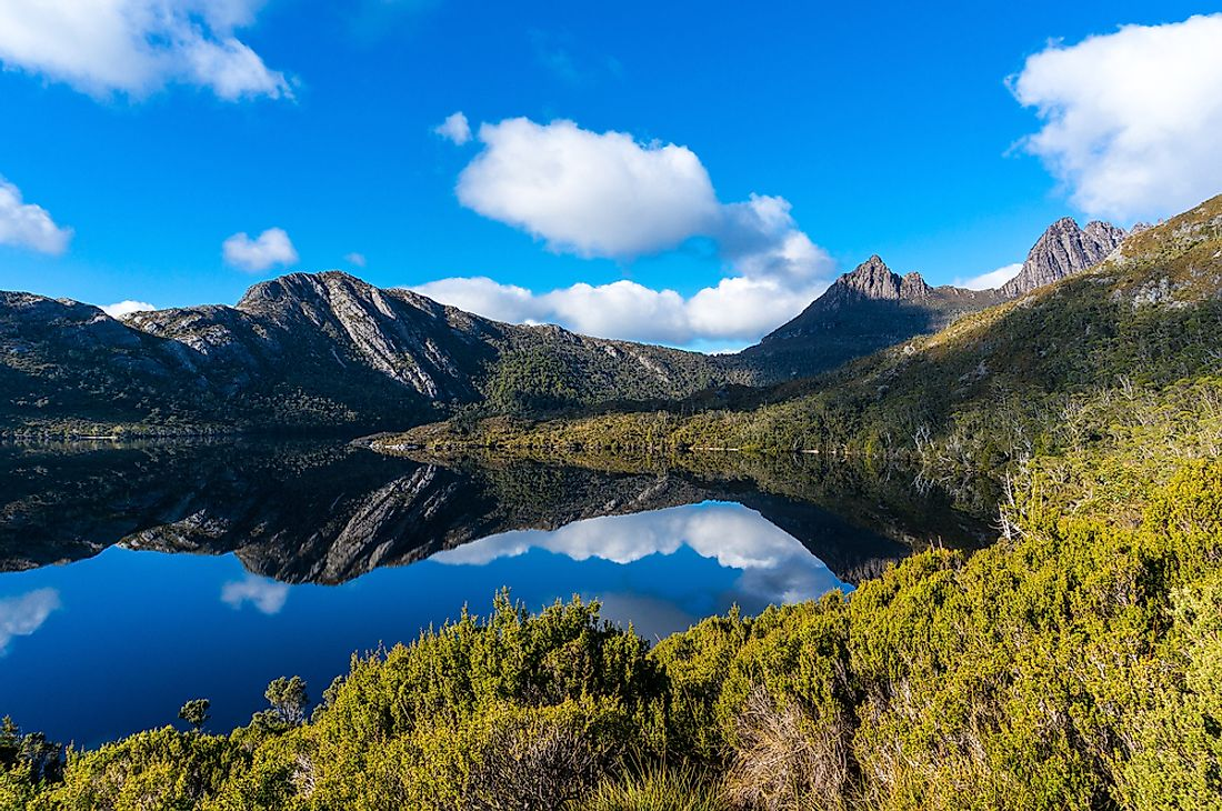 Lake St. Clair National Park in Tasmania, Australia.