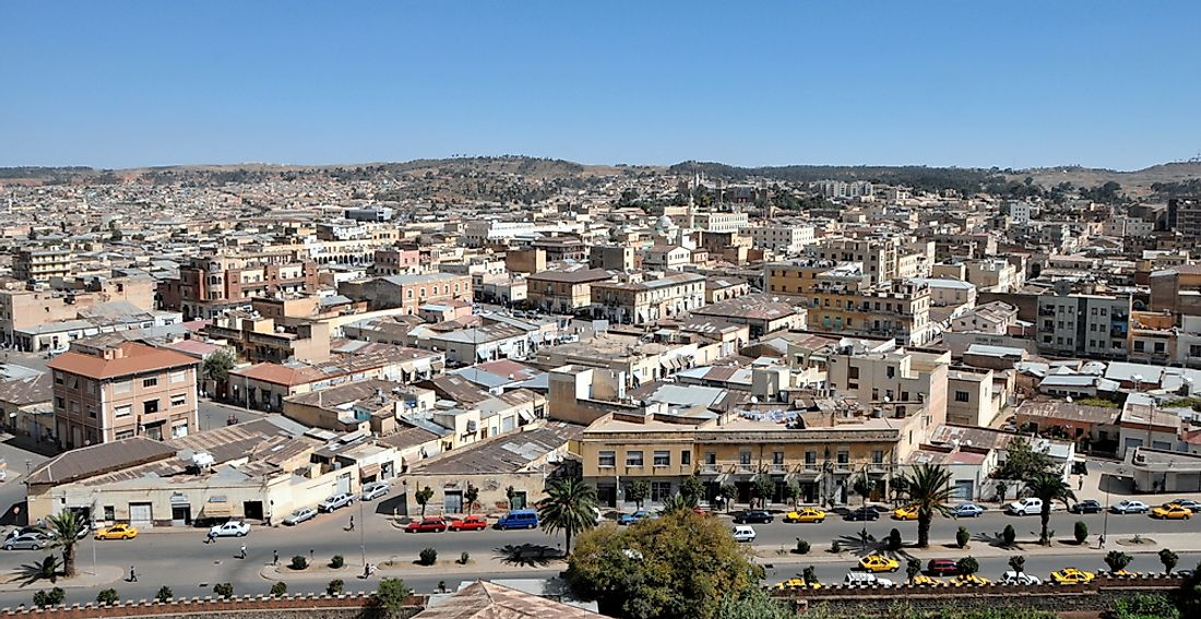 Asmara, the capital of Eritrea.