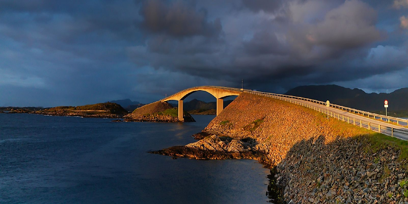 Norway's Atlantic Ocean Road has an abundance of unique bridges, causeways, and winding twists and turns.
