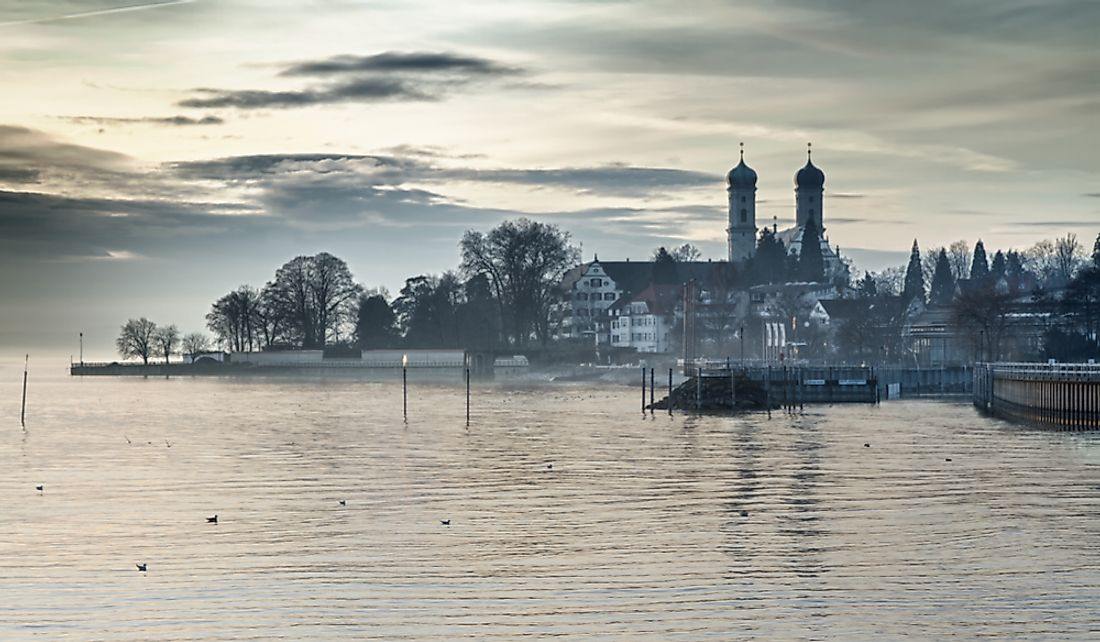 The German city of Friedrichshafen along the banks of Lake Constance.