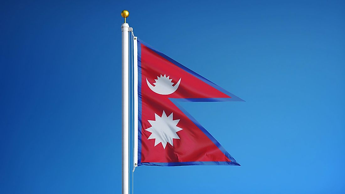 The official flag of Nepal.