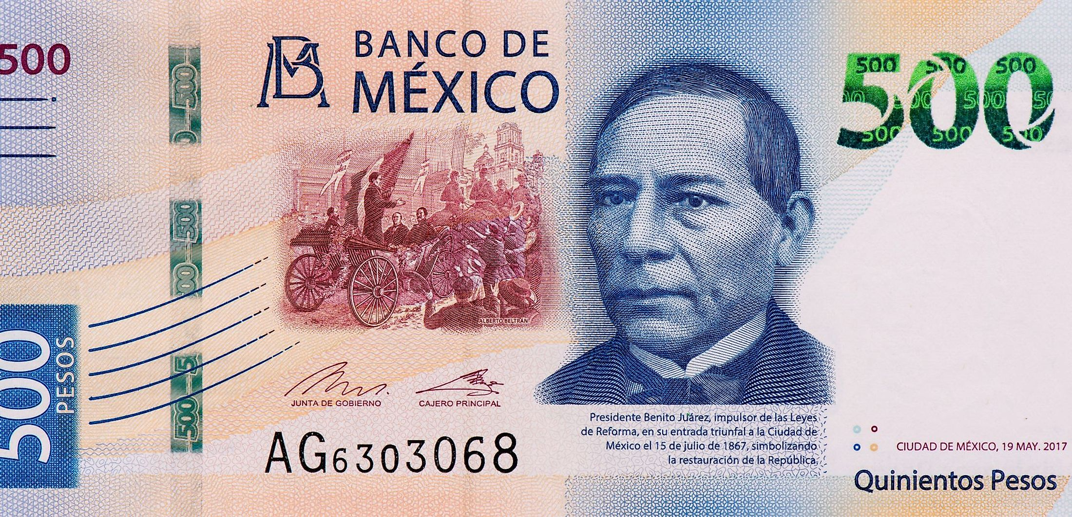 The Mexican peso is the official currency of Mexico.