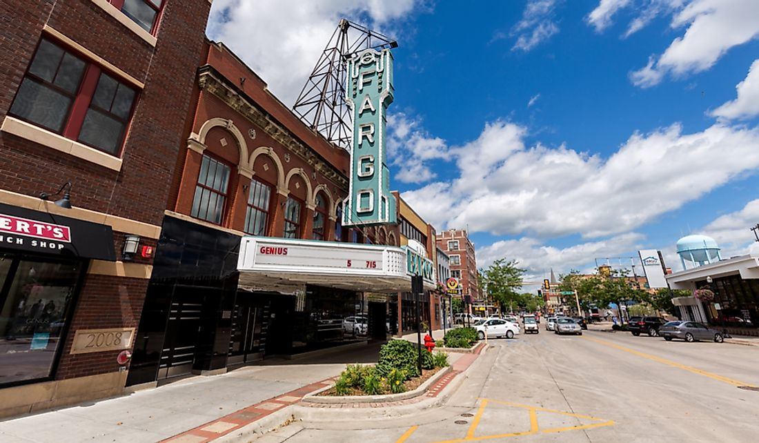 Downtown Fargo in North Dakota.  Editorial credit: David Harmantas / Shutterstock.com