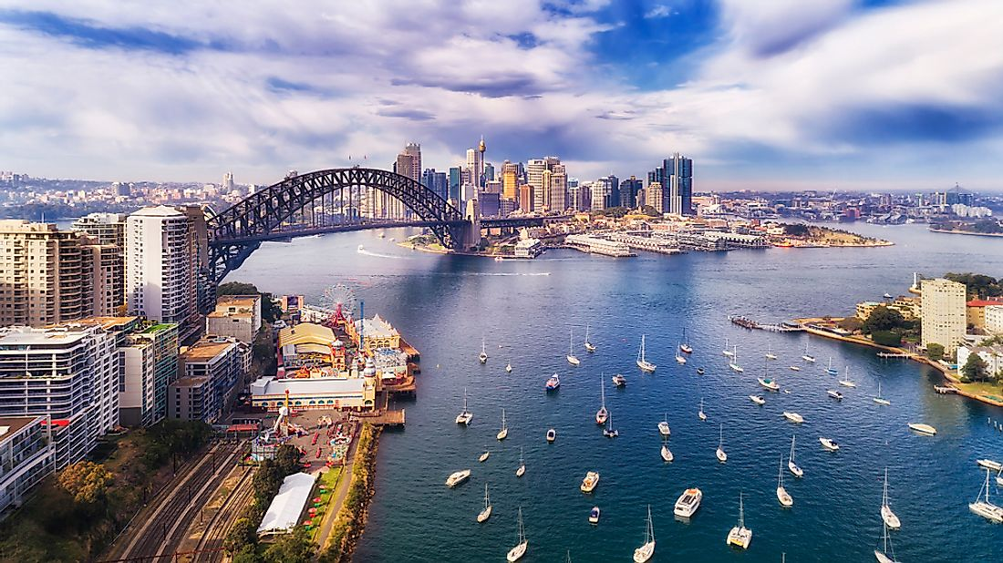 Sydney Harbour in Sydney, Australia is one of the most well-known harbors in the world.