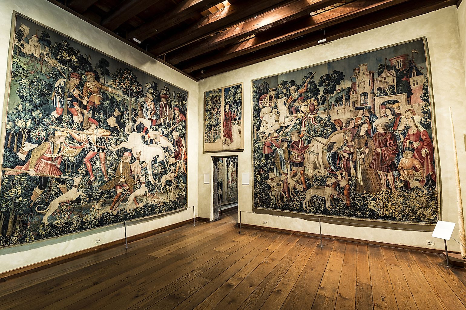 Famous unicorn tapestries in the Cloisters museum in New York, USA. Image credit: Travelview/Shutterstock.com