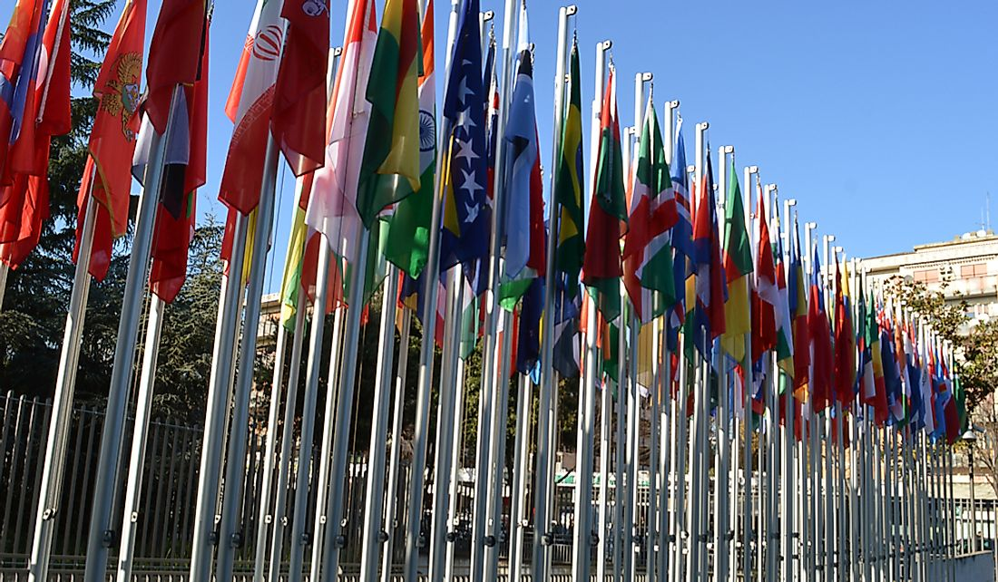 Flags of the UN member states.