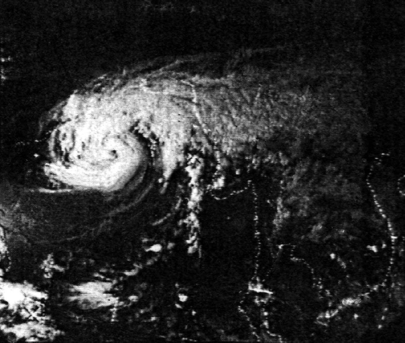 Image of the Bhola cyclone taken on November 11, 1970.