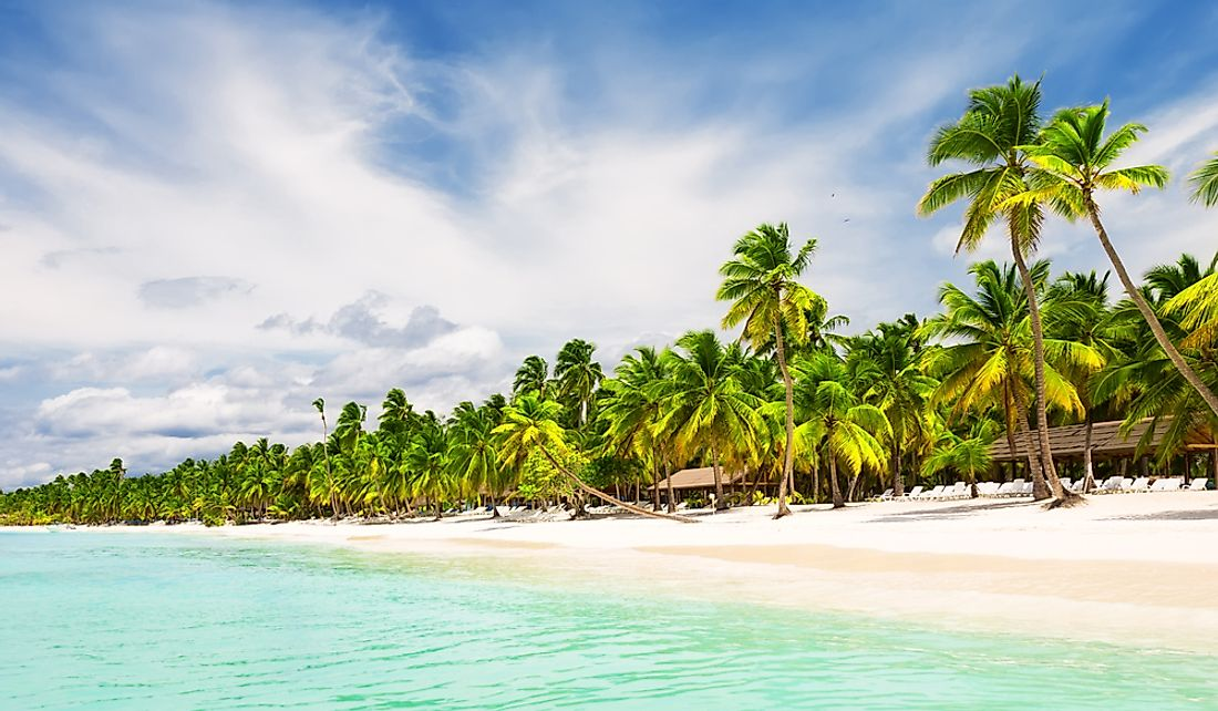 The Dominican Republic is known for its beautiful beaches.