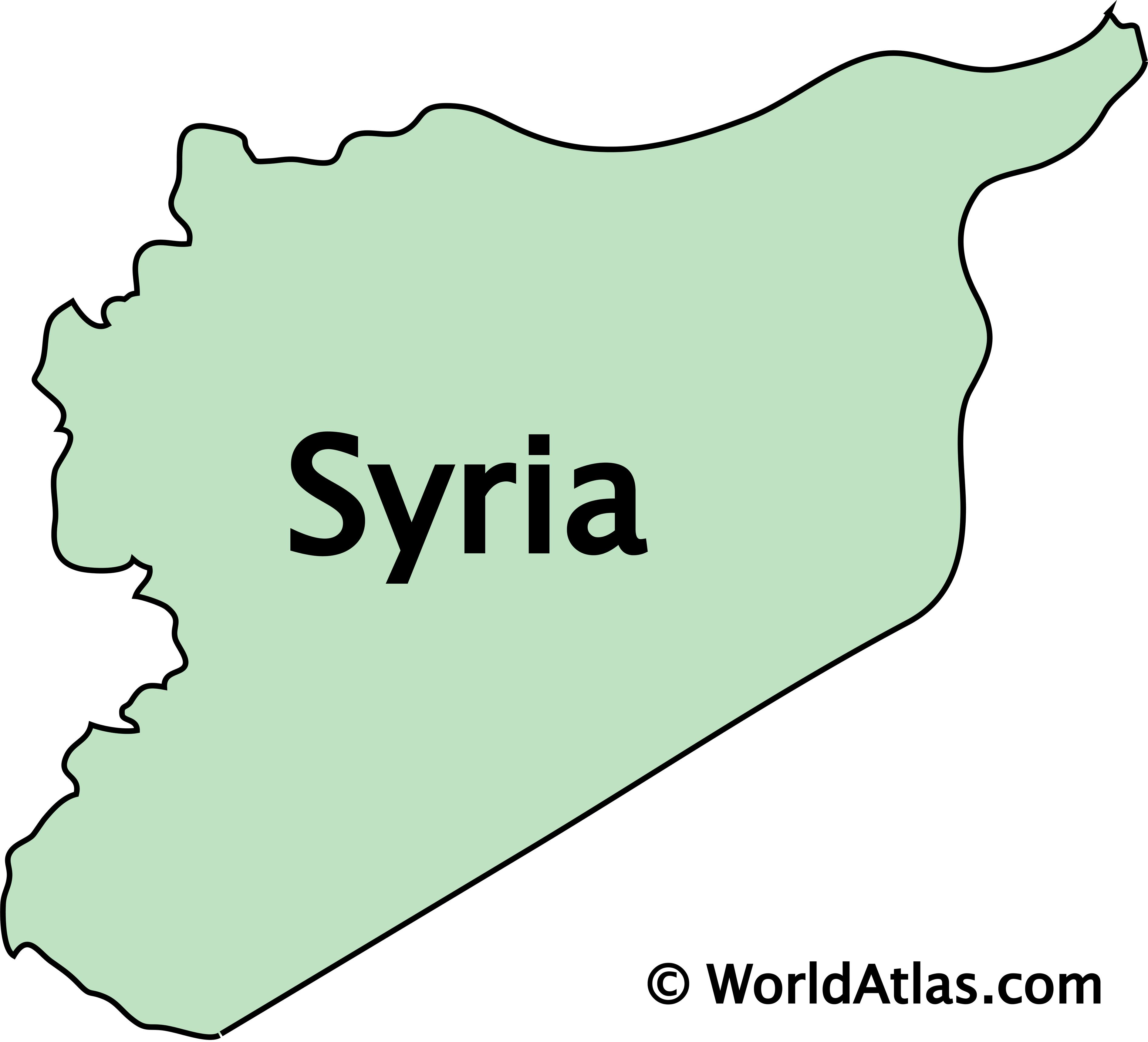 Outline Map of Syria