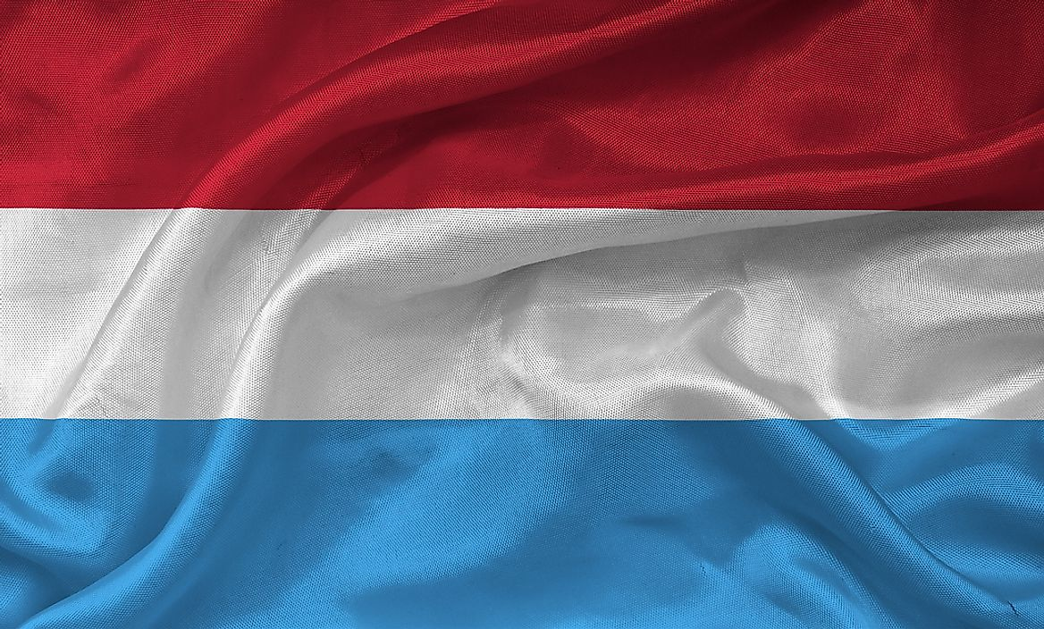 The flag of Luxembourg.