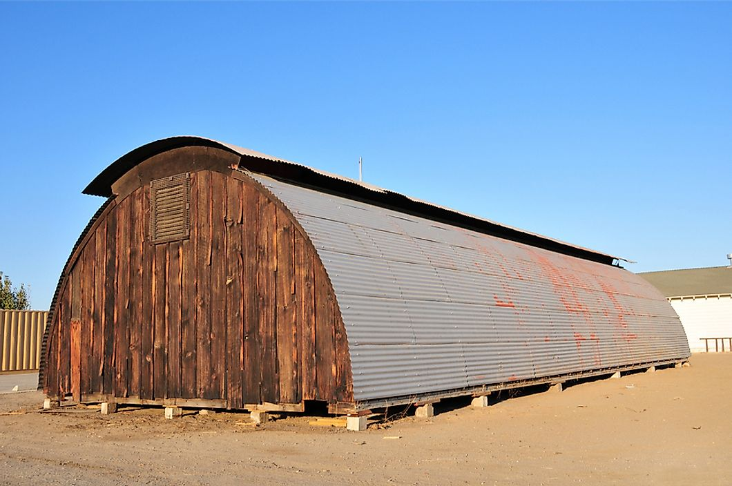 Hundreds of thousands of Quonset huts were built during World War II.