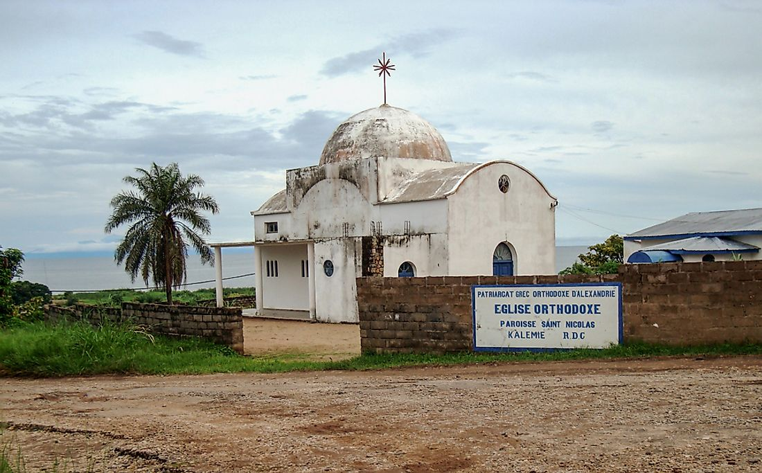 An Orthodox church in Kalemie, the Democratic Republic of the Congo. Editorial credit: Nada B / Shutterstock.com.