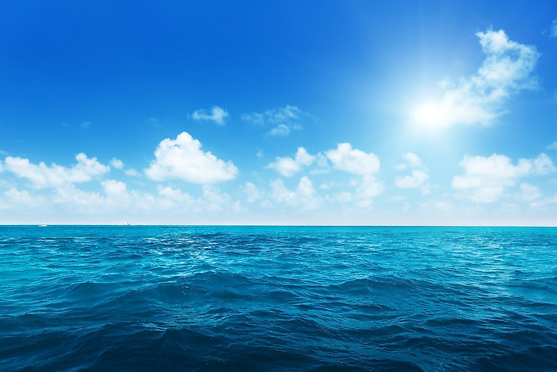 97% of the earth's water is in the oceans.