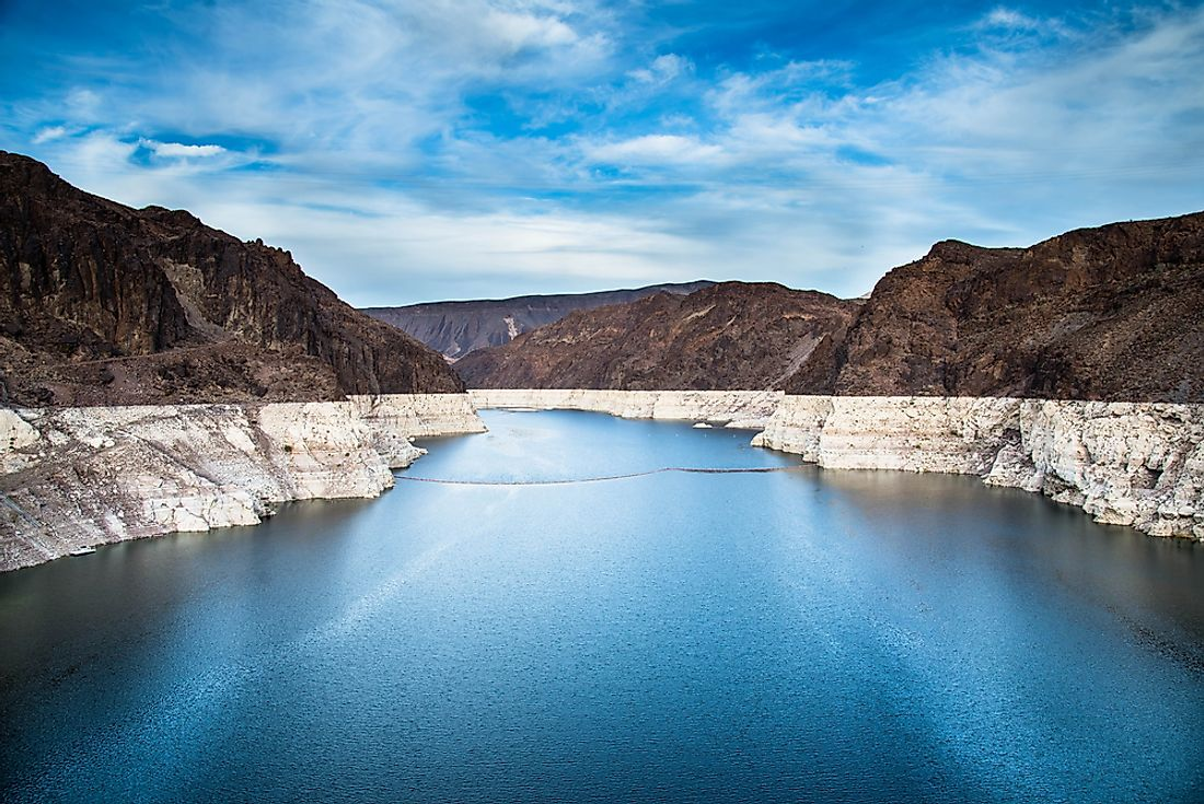 Lake Mead, which was formed by Hoover Dam, is the largest reservoir in the United States.