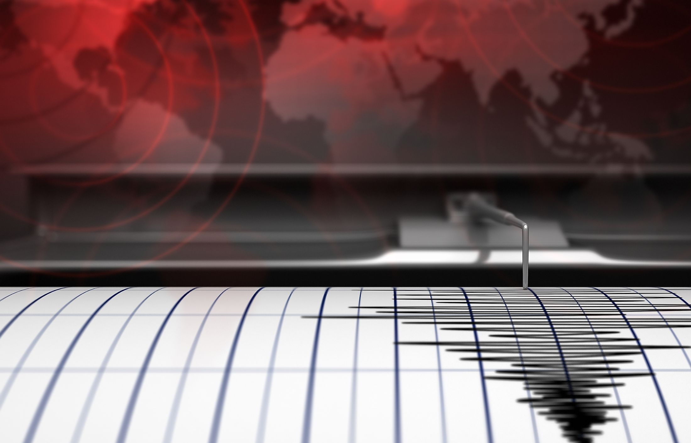 Earthquakes are measured with the help of a seismograph. Image credit:  Andrey VP/Shutterstock.com