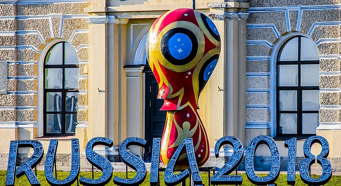 The 2018 FIFA World Cup, taking place in Russia, is the first time since 2006 that the tournament will take place in Europe.  Editorial credit: Zabotnova Inna / Shutterstock.com