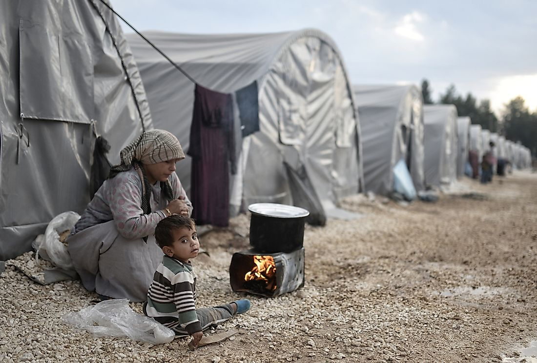 Over half of the Syrian civil war victims are children.  Editorial credit: Orlok / Shutterstock.com
