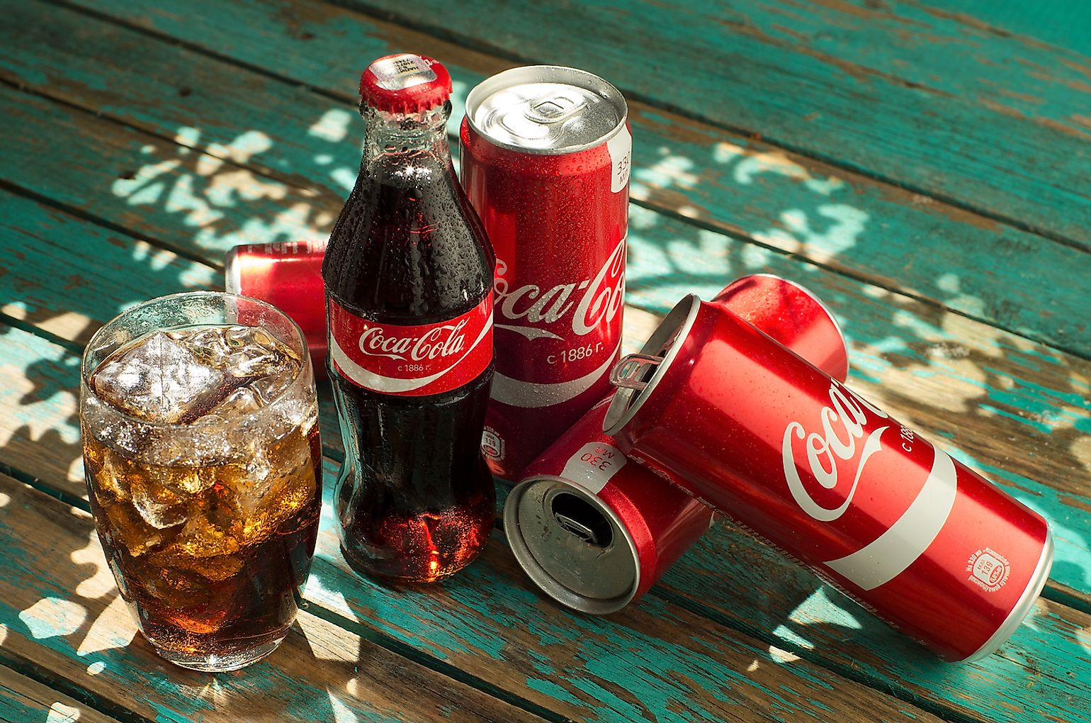 Coca Cola , the most popular soft drink in the world.