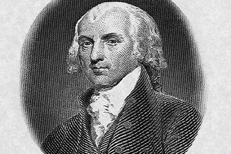 "Born unto an affluent Colonial Virginian gentry family, James Madison would go on to be a U.S. ""Founding Father"", and its 4th President."