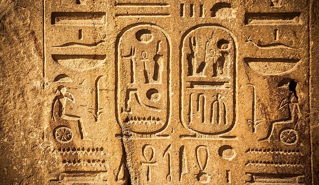 Hieroglyphs from Old Egypt.