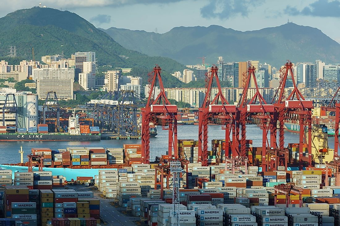 In 2016 china exported goods worth $2.342 trillion.  Editorial credit: Tommy Studio / Shutterstock.com