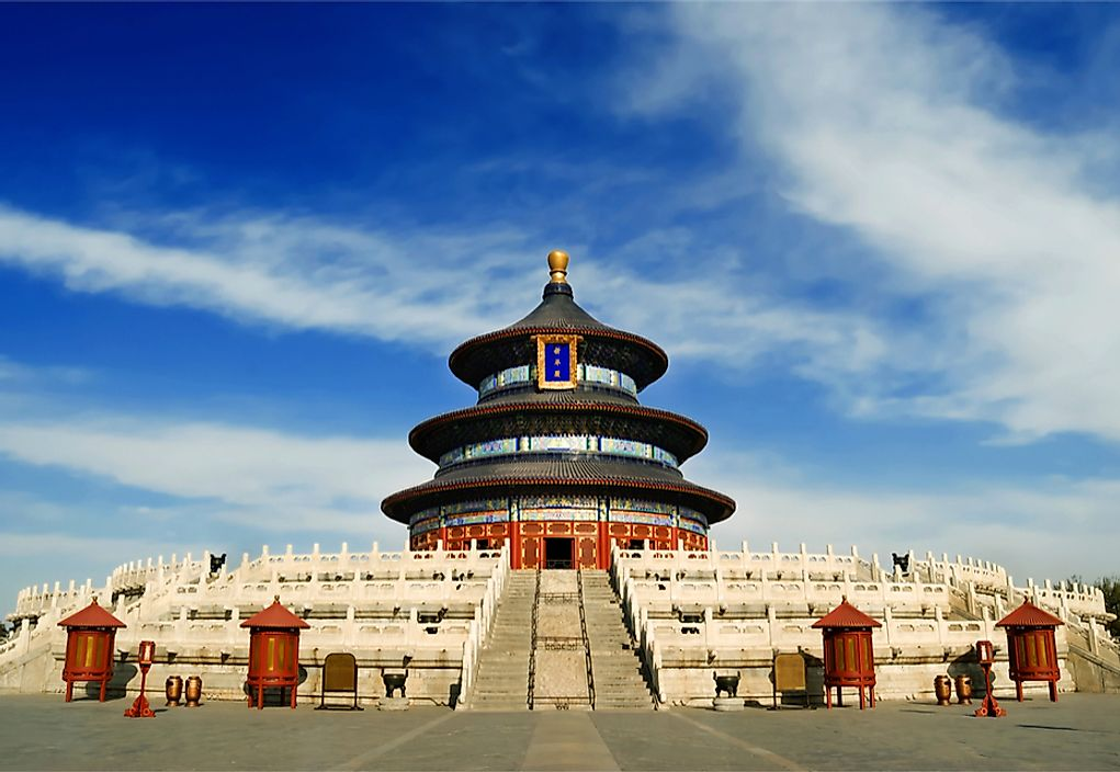 The Temple of Heaven was built between 1406 and 1420.