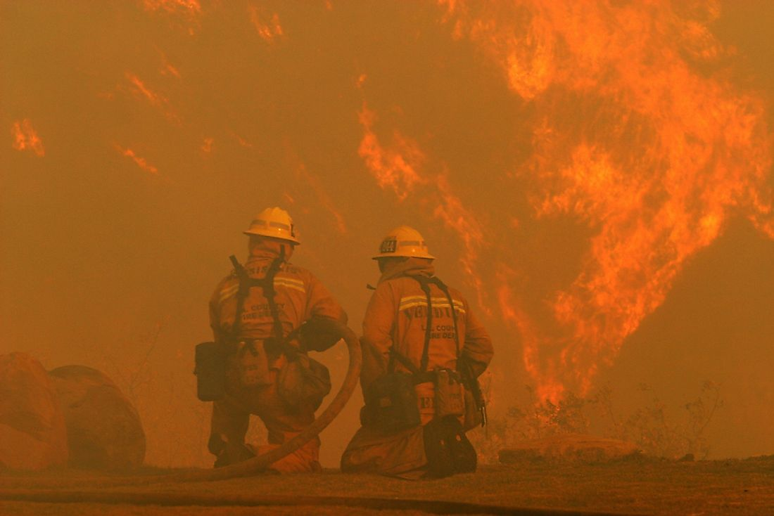 California has experienced a number of major wildfires. Editorial credit: Krista Kennell / Shutterstock.com