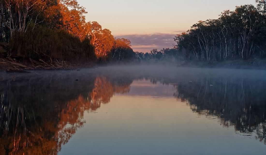 The Murray River in Corowa, New South Wales, Australia.