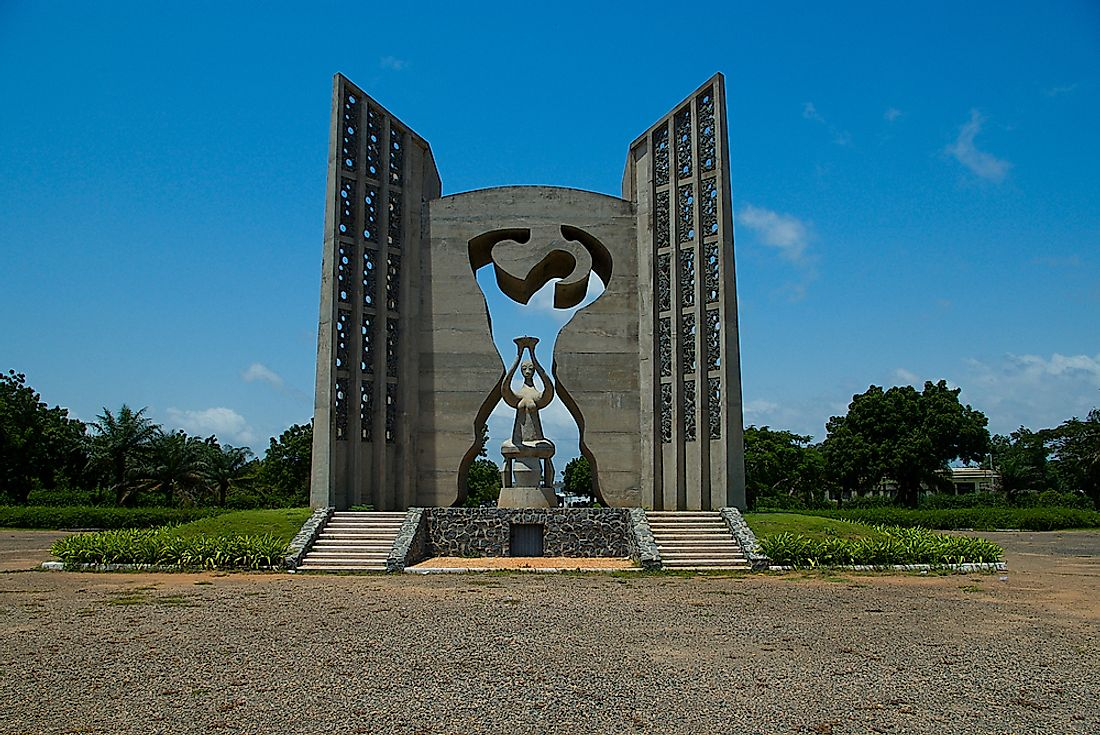 The Independence monument in Lome, Togo. Editorial credit: EiZivile / Shutterstock.com.