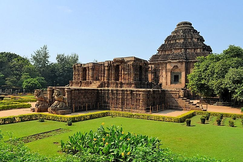 Outside view of the entrance to the Sun Temple of Konark.