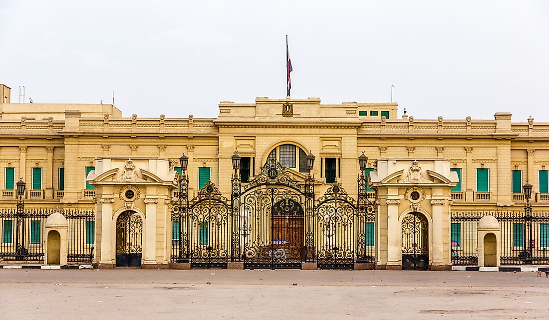 The residence of the president of Egypt.
