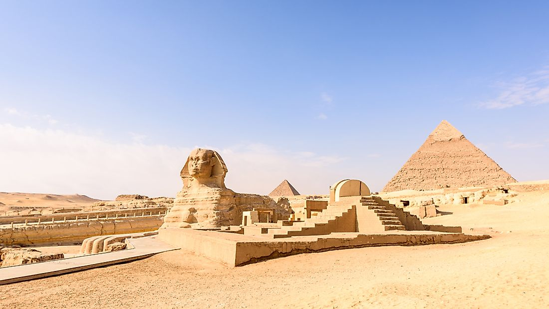 The Great Sphinx of Gaza was constructed during the Old Kingdom era of Egyptian history.