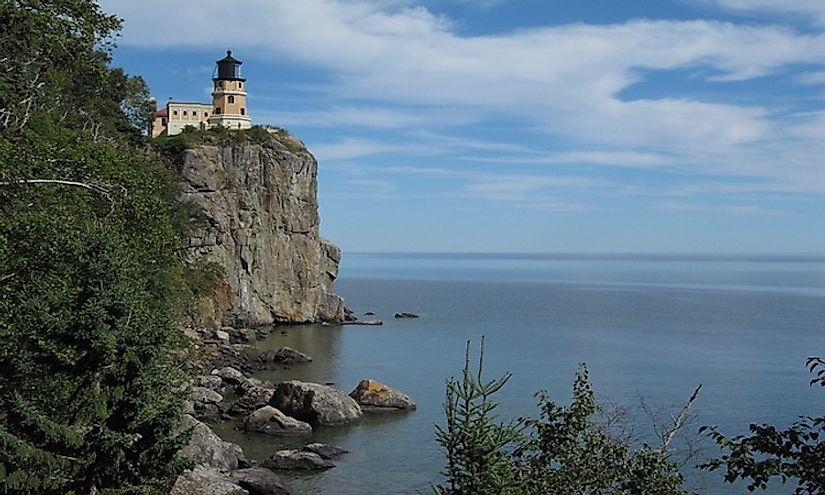 "Lake Superior is the largest lake in Minnesota, the ""Land of 10,000 Lakes."""