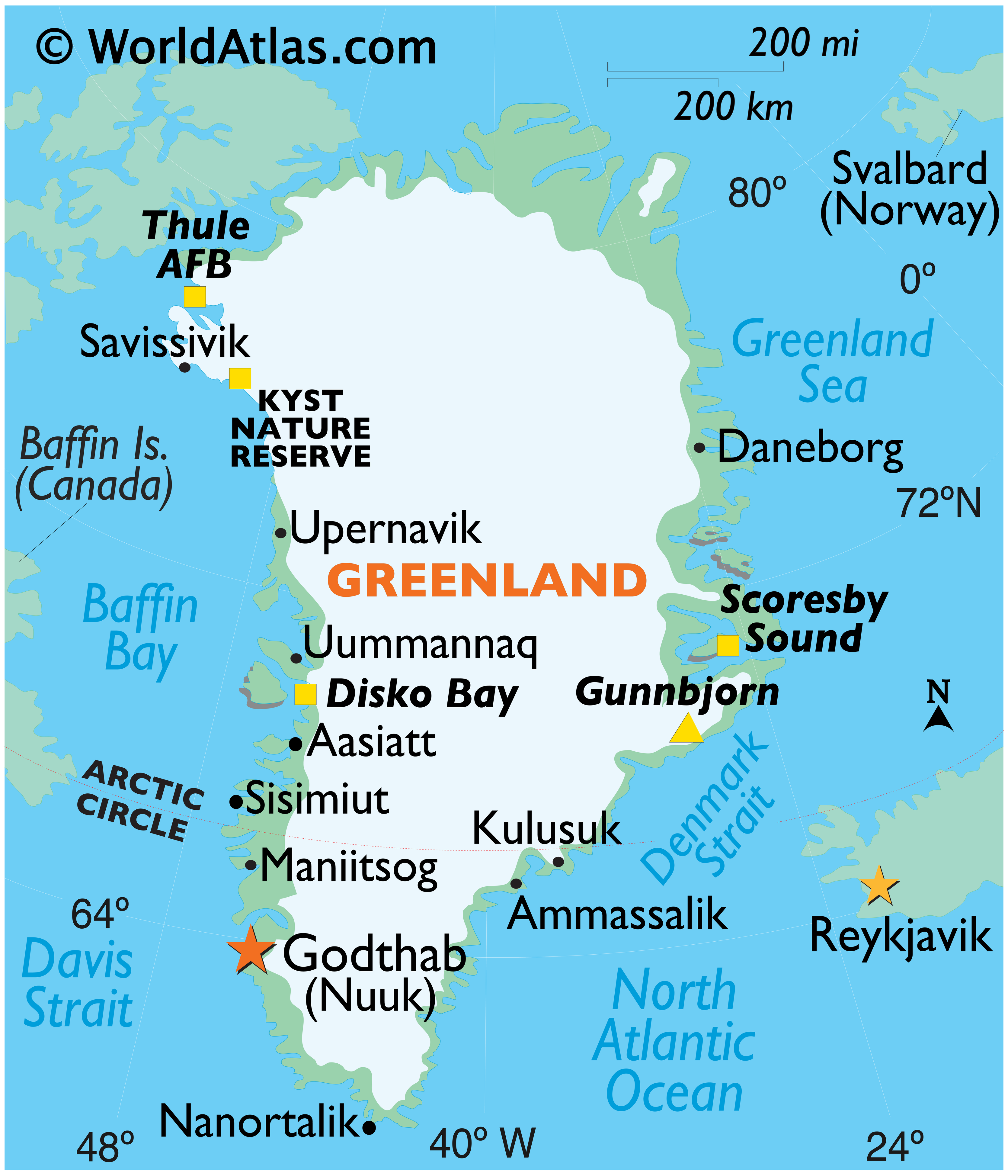 Image of: Greenland Maps Facts World Atlas