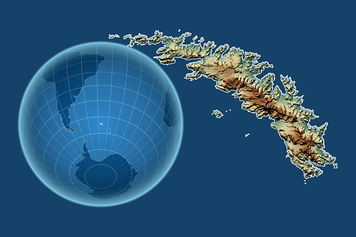 The islands are located in the South Atlantic Ocean between South America and Antarctica.