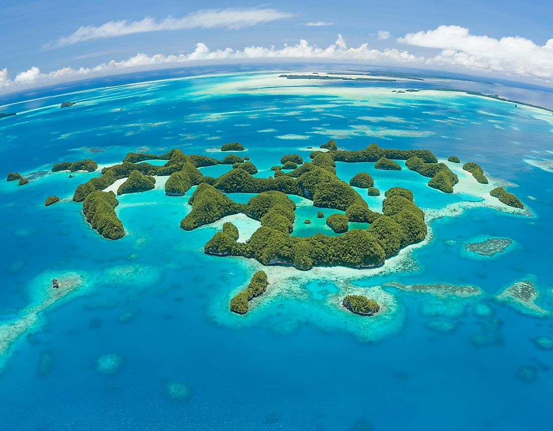 An aerial view of Palau.