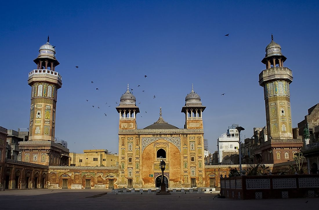 Wazir Khan Mosque in Lahore, Pakistan.