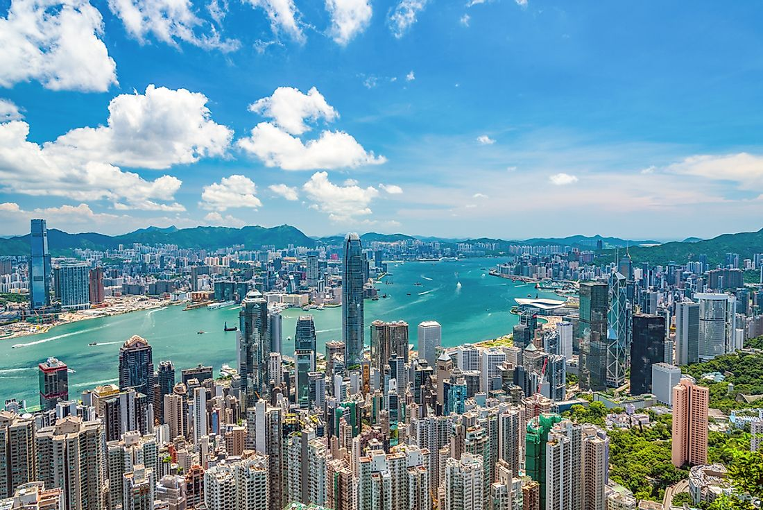 Hong Kong is an administrative region within the Pearl River Delta in Guangdong Province, China.  Editorial credit: Hit1912 / Shutterstock.com