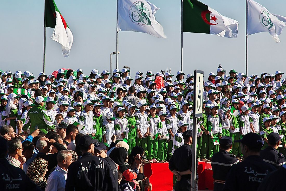 Algerian Independence Day celebrations in 2014. Editorial credit: Sergey-73 / Shutterstock.com.