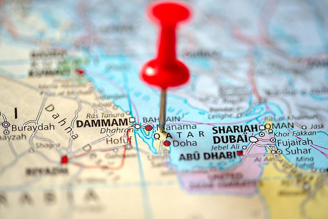 Which Countries Border Qatar? - WorldAtlas.com on