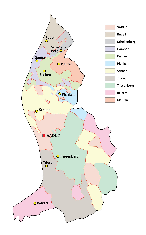 Liechtenstein Maps Facts World Atlas