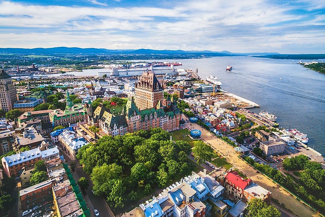 Quebec City, the capital of Quebec.