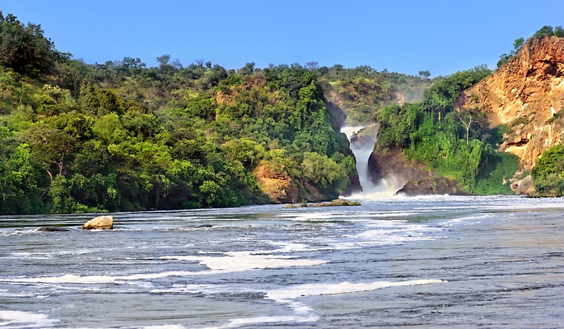 Murchison Falls on the Victoria Nile.